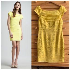 Alice + Olivia Yellow Tiered Chiffon Shift Dress 6